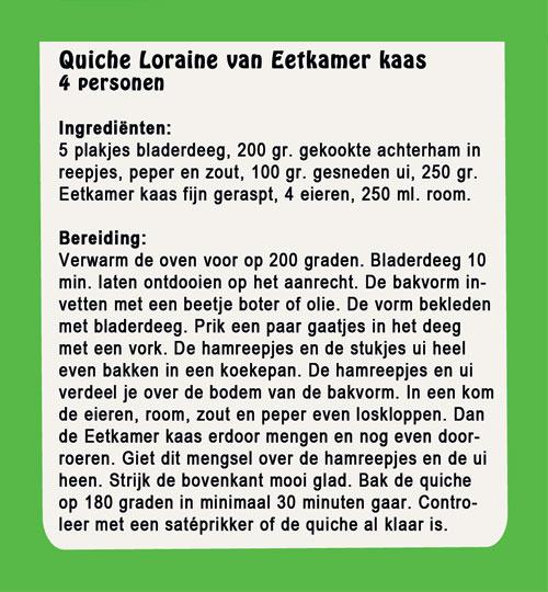 Quiche Loraine van eetkamer